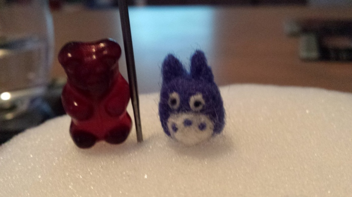 And a teeny, tiny blue Totoro <3